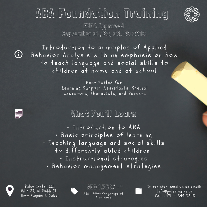 ABA Foundation Training - KHDA Approved - September